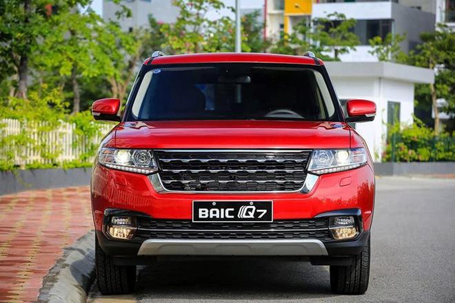 BAIC Q7 có thiết kế không khác gì một chiếc Ranger Rover.
