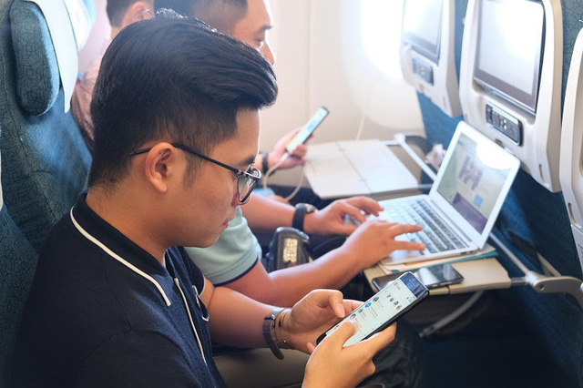Việc triển khai wifi trên chuyến bay góp phần hoàn thiện chuỗi dịch vụ hiện đại và khác biệt của Vietnam Airlines