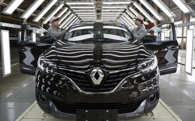 Nhà máy sản xuất của Renault tạm ngừng hoạt động vì virus corona. (Ảnh: Reuters)