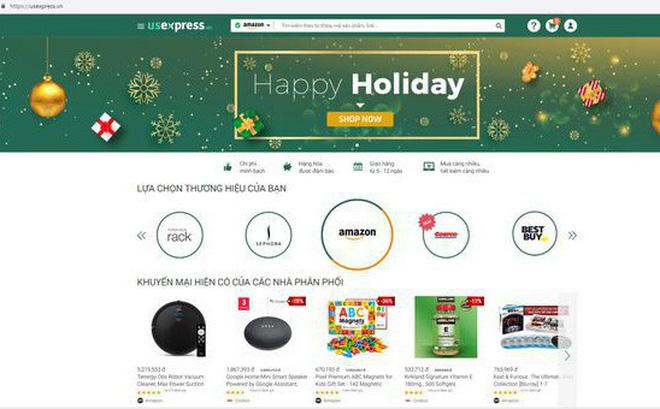 Đặt hàng trên các website kết nối trực tiếp với các trang thương mại điện tử lớn của Mỹ như US Express. (Nguồn: Internet)
