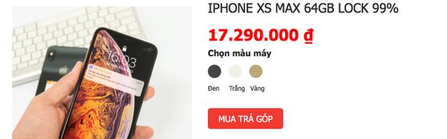 iPhone XS Max bản Lock chỉ còn khoảng hơn 17 triệu đồng