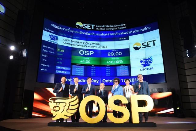 Các thành viên hội đồng quản trị Osptspa trong lần đầu giới thiệu cổ phiếu ra công chúng
