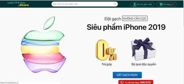 Chương trình đặt hàng iPhone mới trên website của FPT Shop, Viettel Store