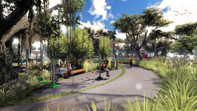 Công viên xanh nội khu Eco Green Central Park 3.5ha ghi điểm tuyệt đối với khách hàng