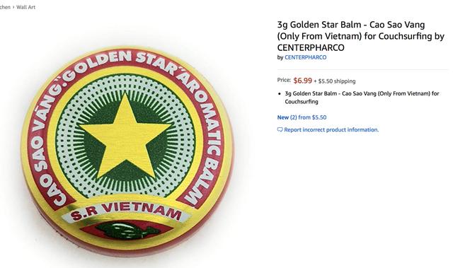 Cao Sao Vàng Việt Nam được bán trên Amazon giá gần 7 USD