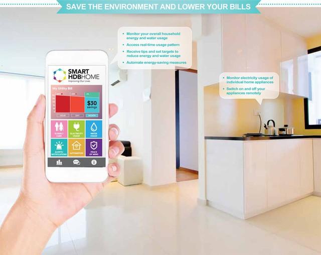 Giao diện của Smart Home HDB.
