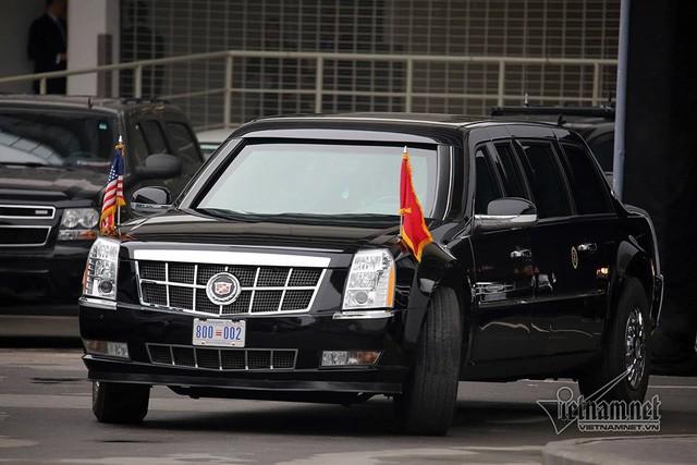 Chiếc xe này từng phục vụ Tổng thống Obama trong chuyến thăm Việt Nam năm 2016, Tổng thống Trump năm 2017 và 2019. Ảnh: Quyết Thắng