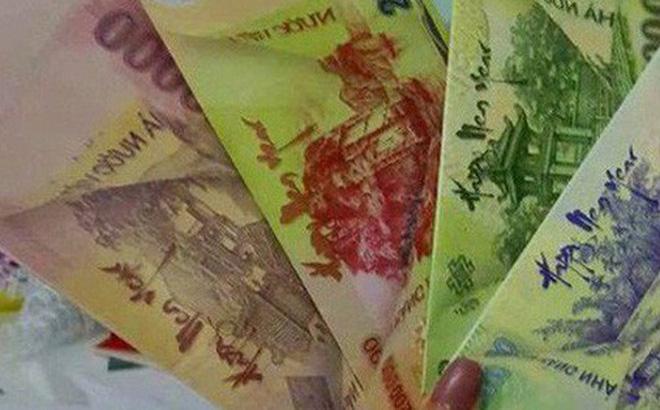 Bao lì xì in hình tiền Việt Nam xuất hiện trên mạng