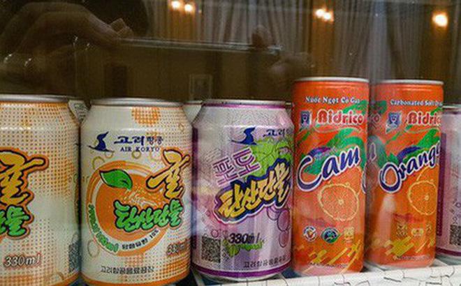 Nước cam của Bidrico trong một cửa hàng ở Triều Tiên.