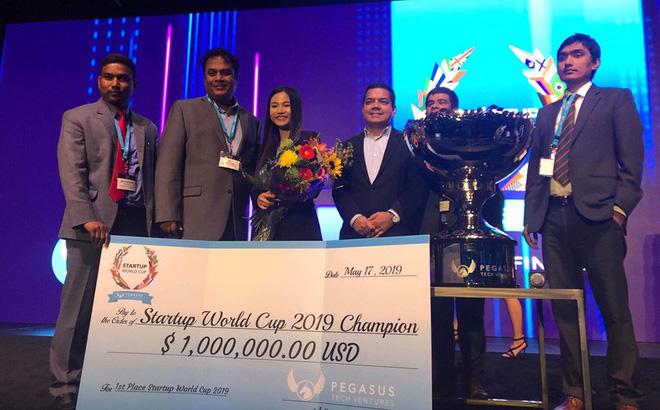 Abivin vô địch cuộc thi Startup World Cup 2019. Ảnh: Techfest Việt Nam.