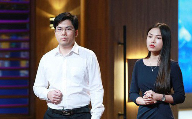 Hai nhà sáng lập Abivin, Phạm Nam Long và Nguyễn Hoàng Anh. Ảnh: Shark Tank Việt Nam.