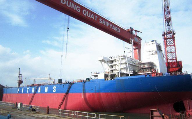 Nhà máy đóng tàu Dung Quất từng được Vinashin đặt nhiều kỳ vọng. Ảnh: DQS