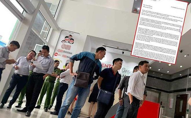 Các doanh nghiệp ngành hàng may mặc của Big C VN phản đối quyết định của Tập đoàn Thái Lan (ảnh lớn). Thông báo của Central Group gửi đến các đối tác trong ngành may mặc của VN. Ảnh: THU HÀ