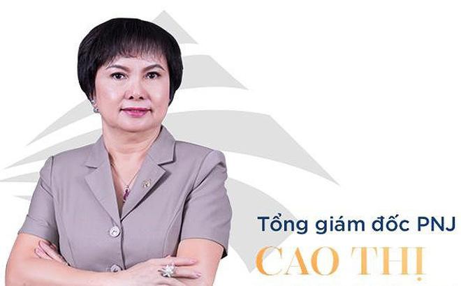 Bà Cao Thị Ngọc Dung, Chủ tịch HĐQT Công ty CP Vàng bạc Đá quý Phú Nhuận (PNJ).