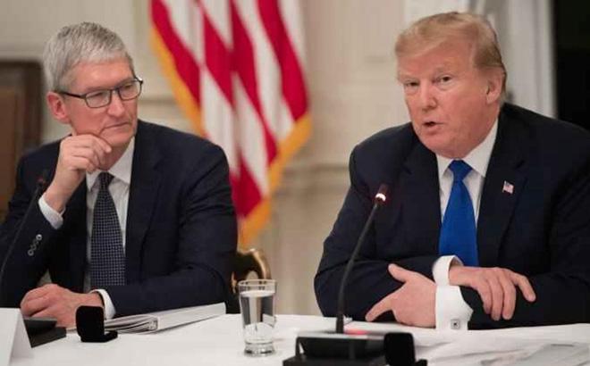Dòng tweet của ông Trump tuyên bố không chấp nhận miễn thuế cho Apple.