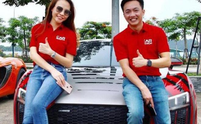 """Cường """"Đô la"""" và Đàm Thu Trang điều khiển Audi R8 V10 Plus tại Car Passion 2019"""