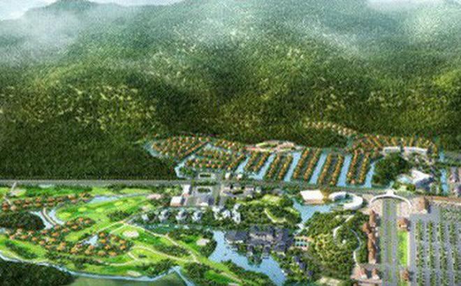 Phối cảnh dự án khu du lịch nghỉ dưỡng Hương Sơn (huyện Mỹ Đức) - Ảnh: Công thông tin điện tử huyện Mỹ Đức