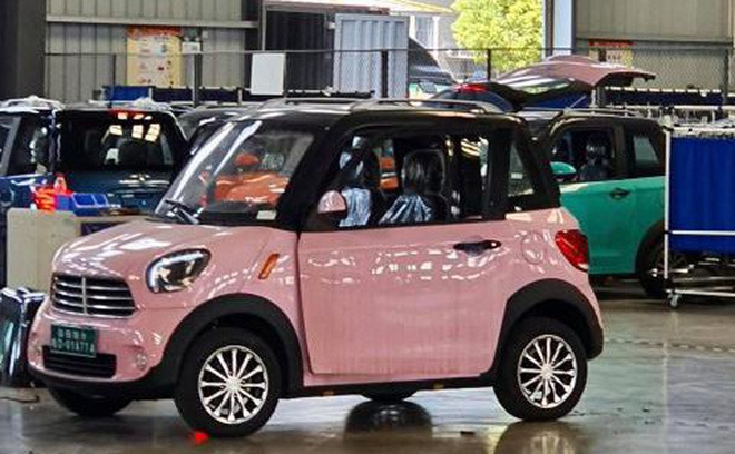 Ô tô điện mini 2 hàng ghế, chở 2- 3 người của Thái Lan. Ảnh: DT Motor