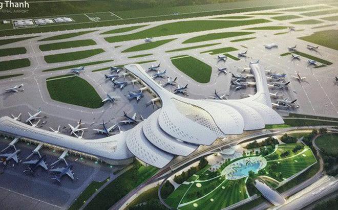 Mô hình thiết kế sân bay Long Thành theo hình hoa sen cách điệu.