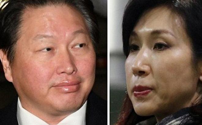 Hai vợ chồng tỷ phú Chey Tae-won và Roh Soh-yeong. (Ảnh: Yonhap.)
