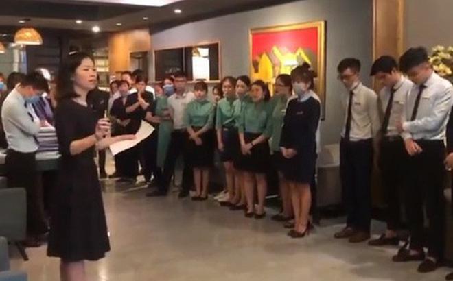 Khách sạn Hanoi Emerald Waters Hotel cho nhân viên nghỉ việc tạm thời 4 tháng vì vắng khách. (Ảnh cắt từ clip)