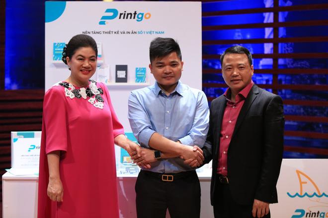 Hai nhân tố mới của Shark Tank năm nay là Shark Đỗ Liên và Shark Nguyễn Hòa Bình đã liên minh rót vốn cho dự án Printgo.