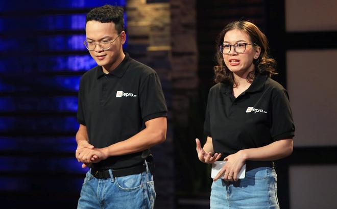 Trung Hiếu và Hồng Nhi, hai nhà sáng lập Telepro gọi vốn 1 triệu đô la trên Shark Tank.