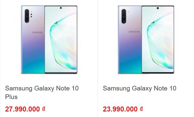 Giá dự kiến của bộ đôi Samsung Galaxy Note 10 được các nhà bán lẻ Việt Nam công bố.