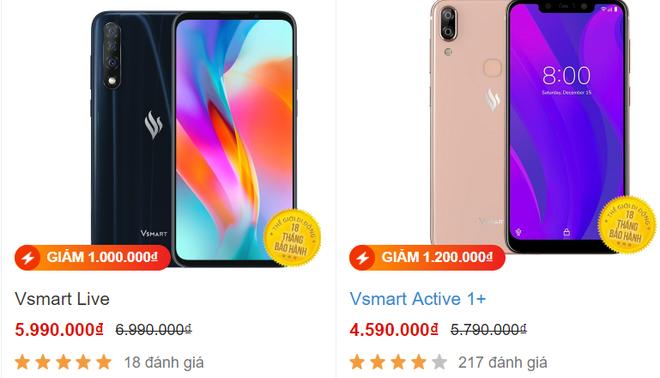 Vsmart Live được giảm giá khá nhiều.
